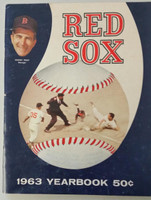 1963 Red Sox Yearbook (50 pg) Very Good to Excellent Scuffing and creasing on cover, contents nice