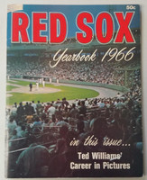 1966 Red Sox Yearbook (50 pg) Very Good Scuffing and creasing on cover, contents nice