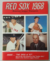 1968 Red Sox Yearbook (50 pages) Near-Mint to Mint Very clean, fresh example