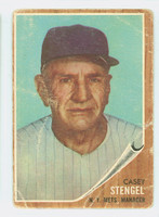 1962 Topps Baseball 29 Casey Stengel New York Mets Poor