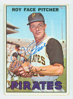 Roy Face AUTOGRAPH 1967 Topps #49 Pirates CARD IS G/VG; SL CREASE  [SKU:FaceR1218_T67BBm1]