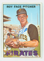 Roy Face AUTOGRAPH 1967 Topps #49 Pirates CARD IS CLEAN VG/EX  [SKU:FaceR1218_T67BBm2]