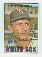 Ron Hansen AUTOGRAPH 1967 Topps #9 White Sox CARD IS CLEAN VG/EX