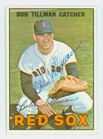 Bob Tillman AUTOGRAPH d.00 1967 Topps #36 Red Sox CARD IS CLEAN VG