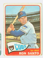 1965 Topps Baseball 110 Ron Santo Chicago Cubs Poor