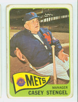 1965 Topps Baseball 187 Casey Stengel New York Mets Fair to Poor