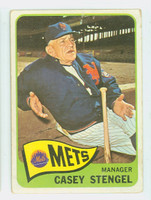1965 Topps Baseball 187 Casey Stengel New York Mets Fair to Good