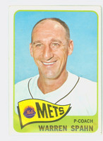 1965 Topps Baseball 205 Warren Spahn New York Mets Good to Very Good