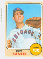 1968 Topps Baseball 235 Ron Santo Chicago Cubs Good to Very Good