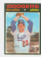 1971 OPC Baseball 361 Don Sutton Los Angeles Dodgers Very Good to Excellent