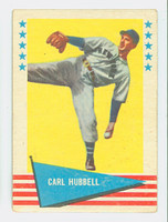 1961 Fleer Baseball Greats 45 Carl Hubbell Fair to Good