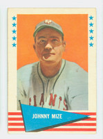 1961 Fleer Baseball Greats 63 Johnny Mize Good to Very Good