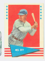 1961 Fleer Baseball Greats 68 Mel Ott Excellent