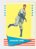 1961 Fleer Baseball Greats 73 Schoolboy Rowe Near-Mint Plus