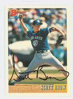 Scott Brow AUTOGRAPH 1993 Bowman Blue Jays 