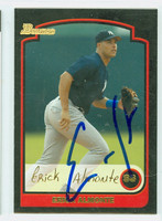 Erick Almonte AUTOGRAPH 2003 Bowman THICK STOCK VARIETY Yankees 