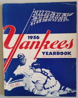 1956 Yankees Yearbook - World Series Winners (50 pgs) Very Good Wear along binding, sl creasing and wear on cover, inside very clean