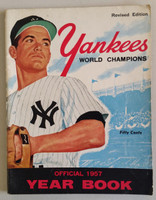 1957 Yankees Yearbook Revised - AL Pennant Winning Team (50 pgs) Very Good to Excellent Lt wear, scuffing, minor staining on cover; ow very clean