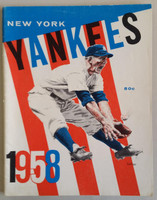 1958 Yankees Yearbook Jay - World Series Winners (50 pgs) Excellent to Mint Lt wear on cover, ow very clean