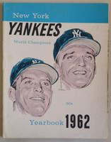 1962 Yankees Yearbook Jay Mantle and Maris Cover - World Series Champions (50 pgs) Excellent Lt toning on cover, sl pencil mark; inside very clean