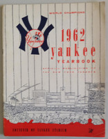 1962 Yankees Yearbook - World Series Champions (50 pgs) Very Good to Excellent Lt wear on cover, minor creasing; ow very clean