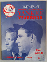 1964 Yankees Yearbook Final Edition - AL Pennant Winning Team (50 pgs) Near-Mint Lt wear on both covers; ow very clean example