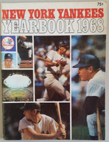 1968 Yankees Yearbook - Mickey Mantle's Last Season (70 pgs) Excellent Lt wear on both covers; ow very clean example