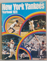 1970 Yankees Yearbook (Thurman Munson Rookie of the Year) Very Good to Excellent Wear and scuffing on cover, team photo fold-out present