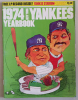 1974 Yankees Yearbook - Includes LP Vinyl Record 'Sounds of a Half Century' Excellent Lt wear on edge of cover; ow very clean example