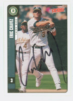Eric Chavez AUTOGRAPH 2001 Upper Deck Victory Athletics 
