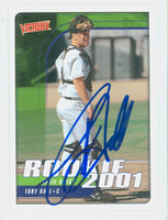 Toby Hall AUTOGRAPH 2001 Upper Deck Victory Rays 