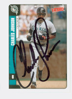 Charles Johnson AUTOGRAPH 2001 Upper Deck Victory Marlins 