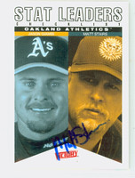 Matt Stairs AUTOGRAPH 2000 Upper Deck Victory Team Leaders Athletics 
