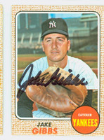 Jake Gibbs AUTOGRAPH 1968 Topps #89 Yankees CARD IS VG/EX, AUTO CLEAN  [SKU:GibbJ1657_T68BBcm]