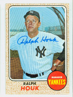 Ralph Houk AUTOGRAPH d.10 1968 Topps #47 Yankees CARD IS VG/EX, AUTO CLEAN