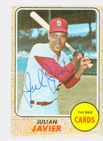 Julian Javier AUTOGRAPH 1968 Topps #25 Cardinals CARD IS EX