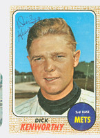 Dick Kenworthy AUTOGRAPH d.10 1968 Topps #63 Mets CARD IS F/G; SL BEND, AUTO CLEAN  [SKU:KenwD903_T68BBcm]