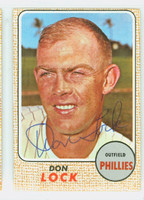 Don Lock AUTOGRAPH 1968 Topps #59 Phillies CARD IS CLEAN VG  [SKU:LockD1357_T68BBcm]