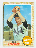 Bob Locker AUTOGRAPH 1968 Topps #51 White Sox CARD IS G/VG; CRN CREASE, AUTO CLEAN