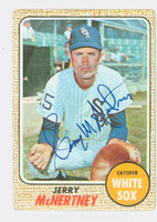Jerry McNertney AUTOGRAPH 1968 Topps #14 White Sox CARD IS F/G; CREASES, AUTO CLEAN