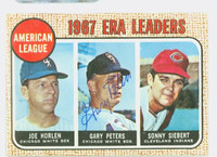 Gary Peters AUTOGRAPH 1968 Topps AL ERA Leaders #8 White Sox CARD IS G/VG; CRN WEAR, AUTO CLEAN