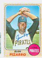 Juan Pizarro AUTOGRAPH 1968 Topps #19 Pirates CARD IS EX