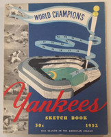 1952 Yankees Yearbook - World Series Champions (50 pgs) Near-Mint Lt wear on binding and both covers, ow very clean