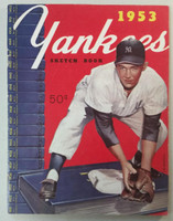 1953 Yankees Yearbook - World Series Champions (50 pgs) Very Good Lt wear and scuffing on cover; wear along binding, contents fine