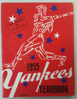 1955 Yankees Yearbook - AL Pennant Winning Team (50 pgs) Very Good to Excellent Lt wear and scuffing on cover; lt staining and wear, contents fine