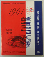 1961 Yankees Yearbook Revised - World Series Champions (50 pgs) Near-Mint Very lt wear on cover, ow very clean