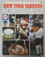 1968 Yankees Yearbook - Mickey Mantle's Last Season (70 pgs) Very Good Heavy wear, lt staining on cover, sl tear on binding; contents fine