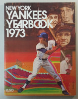 1973 Yankees Yearbook - Ruth, Gehrig, DiMaggio, Mantle (70 pgs) Excellent Lt wear on cover, scuffing, sl scratch on cover; ow clean