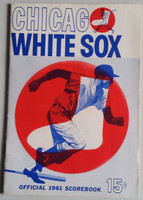 1961 White Sox Program vs Yankees (28 pg) Scored Jun 2 McLish vs Ford (NY 6-2, HR Maris, Berra) Near-Mint [Very lt wear, neatly scored; w/orig NYT game recap]