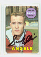 Sammy Ellis AUTOGRAPH d.16 1969 Topps #32 Angels CARD IS CLEAN VG/EX